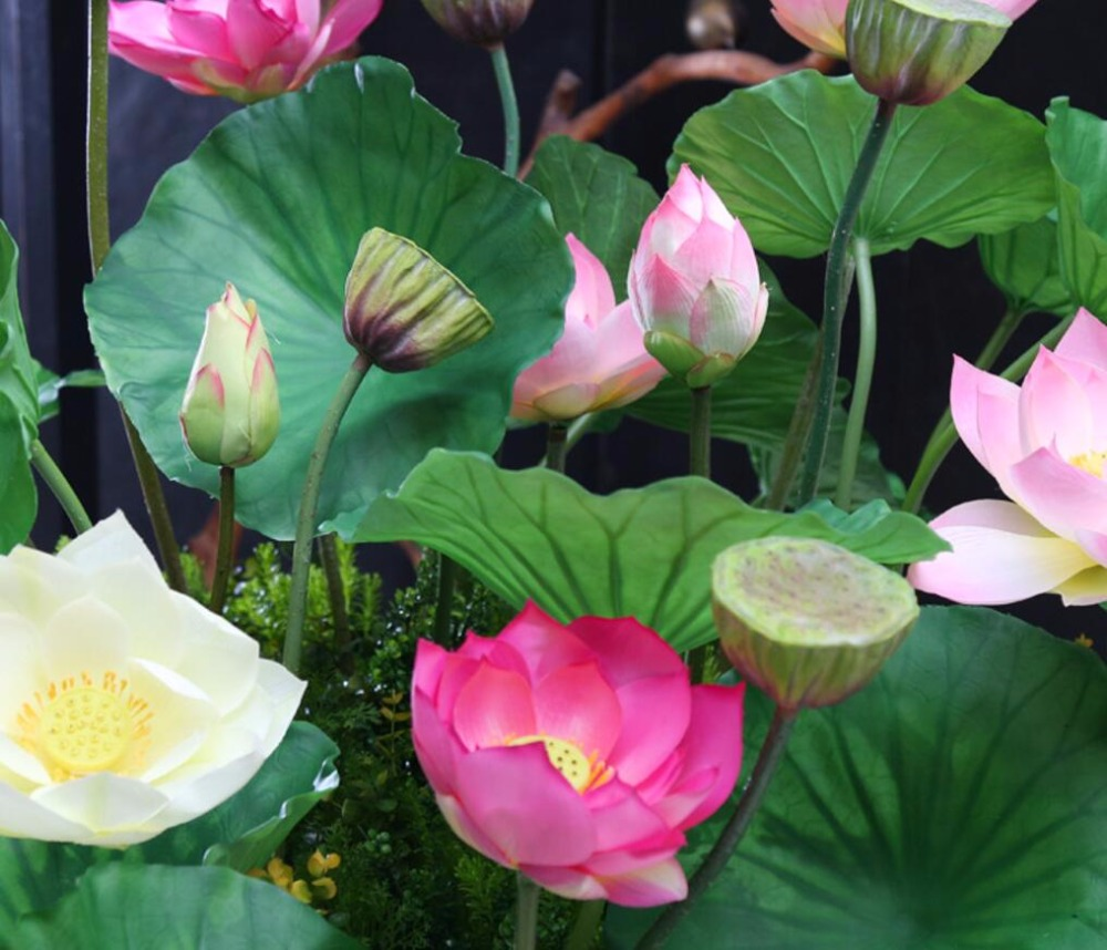 3pcs Artificial Lotus Flower Water Lily For Party Wedding Bridal