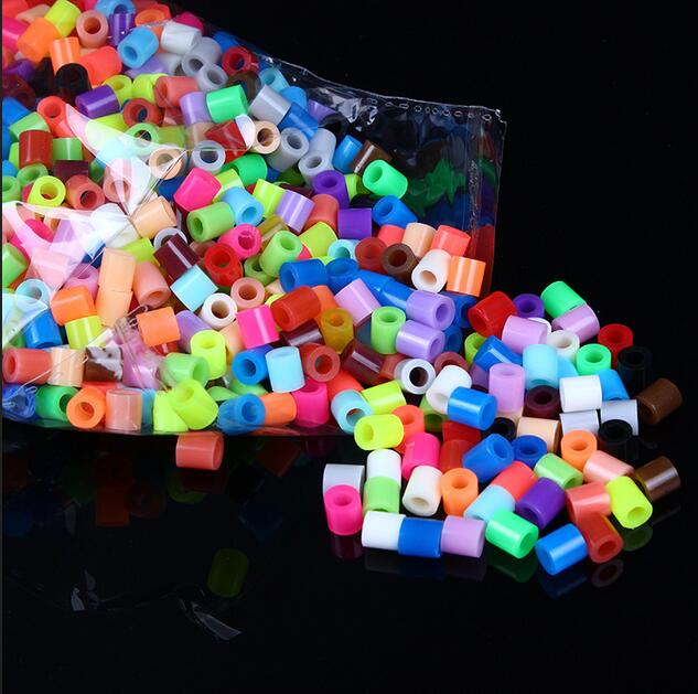 1000pcs /set 5mm Hama Perler Beads EVA Kids Children DIY Handmaking Fuse Bead Intelligence Educational Toys Craft