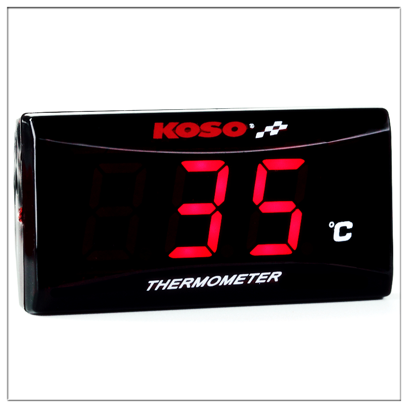 Motorcycle Thermometer KOSO quad square digital instrument humidity hygrometer Temperature meter sensor pyrometer Thermostat
