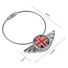 1pc Stainless Steel Key Chain Keychain Key Ring Keyring For Mini Cooper JCW One S Clubman Countryman R55 R56 R60 R61 F55 F56 F60