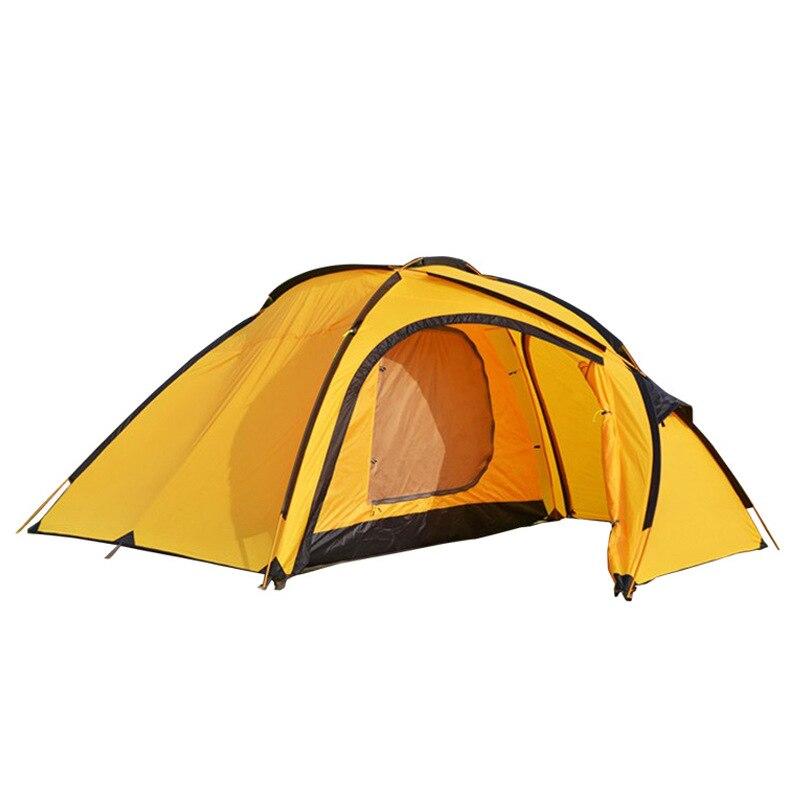 Haute qualité double couche 3-4 personnes plus de couleur choisir imperméable ultra-léger camping tente