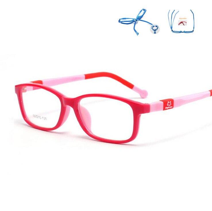100% QualitäT Jungen & Mädchen Brillen Optische Gläser Kinder Kinder Optische Rahmen Bunte Design Gummi Silikon Tr90 Brillen Kinder Linsen Keine Grad