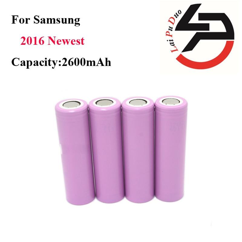 4pcs lot 2016 100 Original For Samsung 18650 2600mAh rechargeable battery li ion Battery ICR18650 26HM