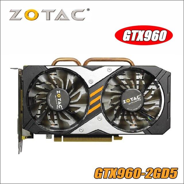ZOTAC видеокарты GTX 960 2 GB 128Bit GDDR5 GM206 Графика карты GPU PCI-E для NVIDIA GeForce GTX960 2G 1050ti 750 1050 ti gtx750