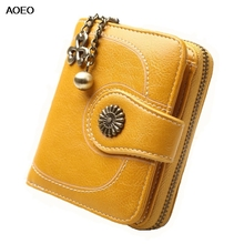 AOEO Mini Wallets Coin Purse Woman Small Bag Money Bag Card Holder Wallet Female Little Zipper Pouch Vintage Purse For Girls цена