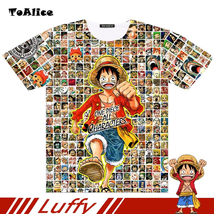 One Piece T shirt 2018 Fashion Japanese Anime Clothing Full Graphic Luffy T shirt For Man And Women Brand Camiseta Drop Ship