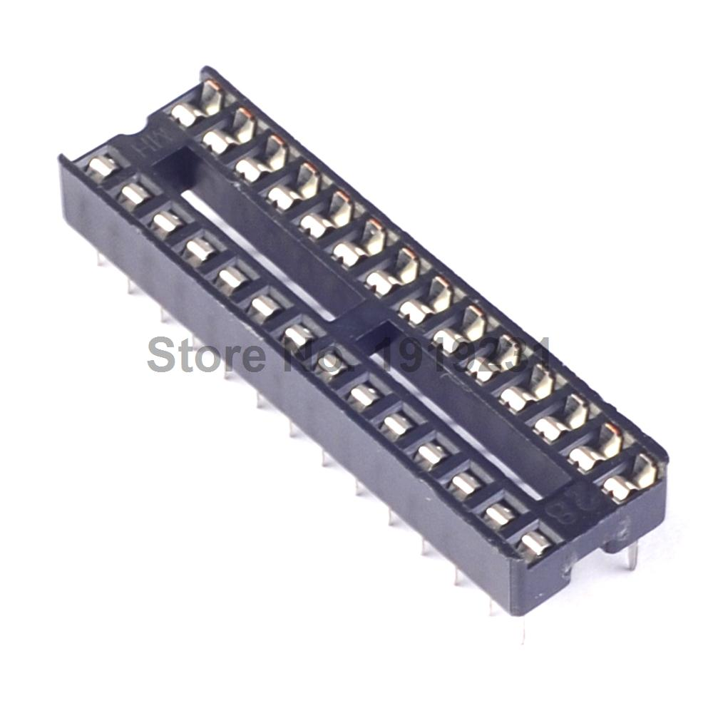 Connector  Adaptor Solder Type 100 PCS 28 PIN 28PIN DIP IC NARROW SOCKET
