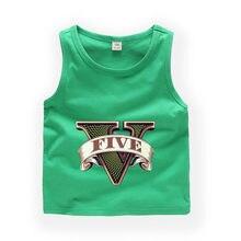 1a880a4cc53ae 2T-9T Children Cartoon GTA 5 sleeveless T shirt Baby Boys/Girls Cute Summer