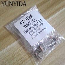 50 шт (5 значений * 10 шт) светочувствительный резистор Фоторезистор