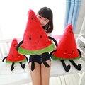 Criativo bonito 50 cm fruta dos desenhos animados melancia brinquedo de pelúcia almofada travesseiro, melancia de pelúcia boneca melhor presente do dia dos namorados