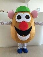 Мистер Картофельная Голова талисмана овощ Баклажан талисмана взрослых Необычные платья мультфильм карнавальные наряды бесплатная достав