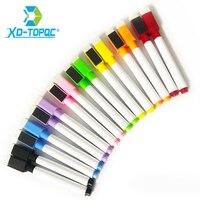 Marcador de quadro branco verdadeiro colorido  canetas repetidas  enchimento fácil de apagar  presente de papelaria para crianças  marcadores apagáveis wp02