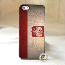 Польша флаг мода мобильного телефона чехол для iphone 4 4S 5 5S 5C SE 6 плюс 6 s плюс 7 7 плюс * s106x
