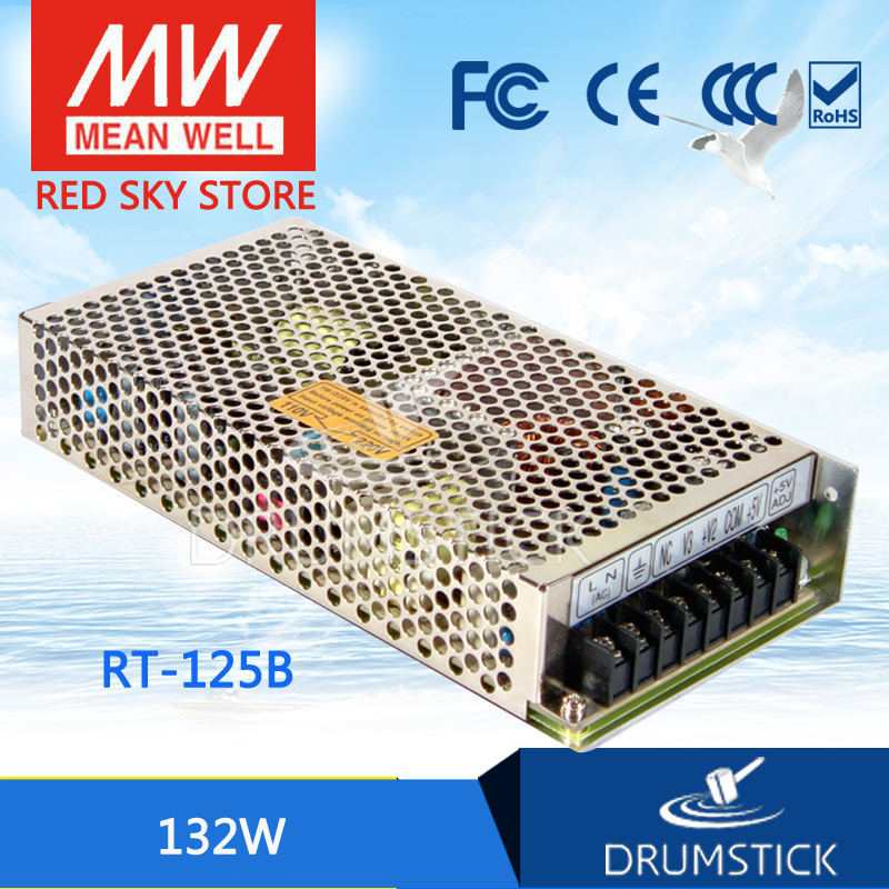 MEAN WELL RT-125B meanwell RT-125 132W Triple Output Switching Power Supply mean well original rt 50d meanwell rt 50 51w triple output switching power supply