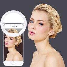 Selfie taşınabilir flaş Led kamera telefon fotoğrafçılığı halka işık artırıcı fotoğrafçılık iPhone Smartphone için pembe beyaz siyah