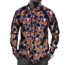Men's African Print Shirts Africa Festive Pattern Long Sleeve Shirts Men Fashion  Africa Clothing Customize