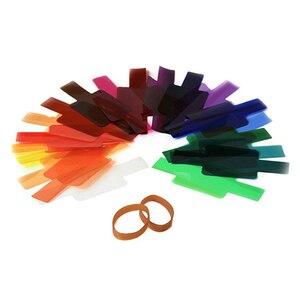 Image 3 - Filtro de gel para fotografía difusor de iluminación de tarjeta, 20 colores, para Canon, Nikon, Sony, Yongnuo, Godox, Flash, Nissin, Speedlite