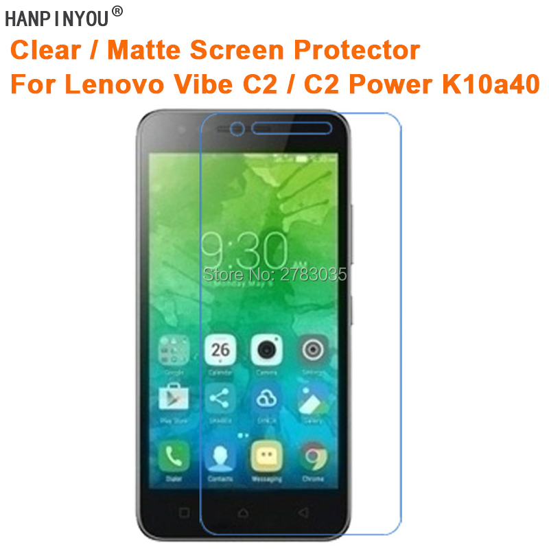 For Lenovo Vibe C2 / C2 Power K10a40 Clear Glossy /Anti-Glare Matte Screen Protector Protective Film Guard (Not Tempered Glass)
