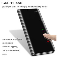 For Huawei P10 Plus Mirror Flip Case For Huawei Mate 9 10 Pro Case Smart View