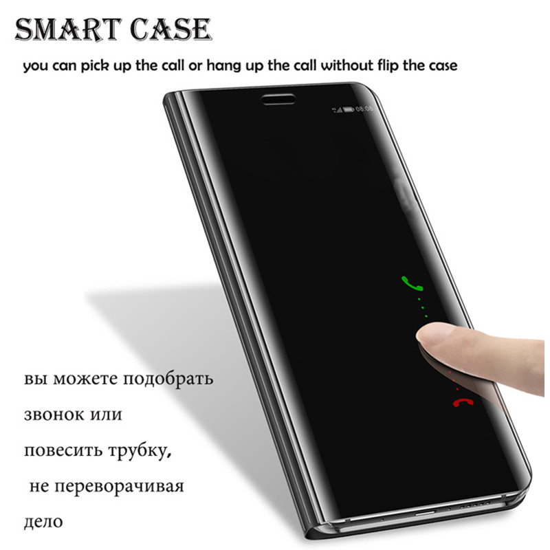 Für Huawei P10 Plus Spiegel Flip Fall für Huawei Taube 9 10 Pro Fall Smart View Abdeckung Mate10 Mate9 Taube 10 Pro Spiegel fall