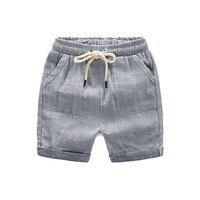 2018 новые летние детские для маленьких мальчиков Обувь для девочек клетчатые хлопковые Шорты для женщин Брюки для девочек популярная одежда...
