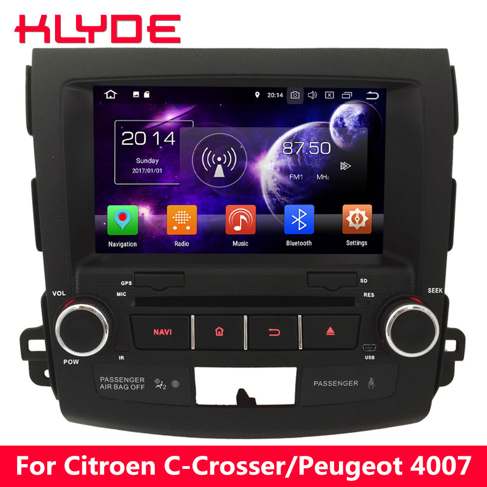KLYDE 8 Octa Core 4GB RAM Android 8.0 7.1 6.0 Car DVD Player Radio For Mitsubishi Outlander 2006 2007 2008 2009 2010 2011 2012