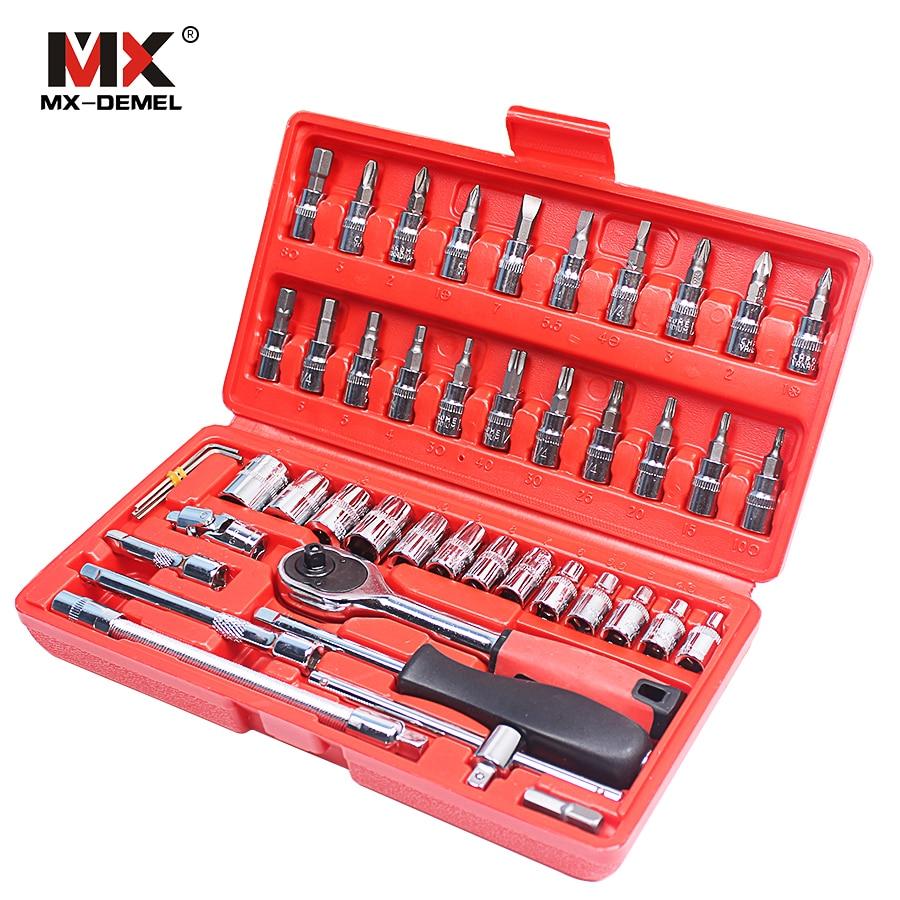 MX-DEMEL autójavító szerszám 46 db 1/4 hüvelykes - Szerszámkészletek - Fénykép 3