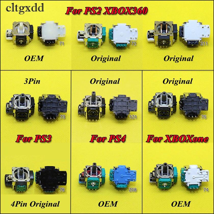 Cltgxdd 1PCS For Xbox 360 Xboxone For PS2 PS3 PS4 Pro PS4pro Controller 3D Analog Joystick Stick Sensor Repair Parts