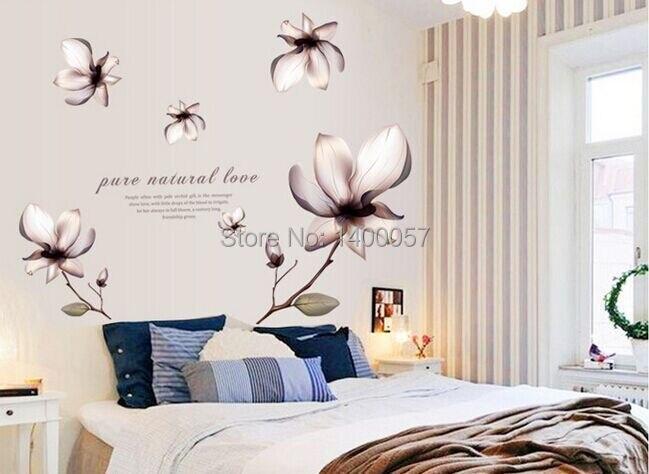 Nieuwe aangekomen romantische fantasie bloem decoratie slaapkamer tv
