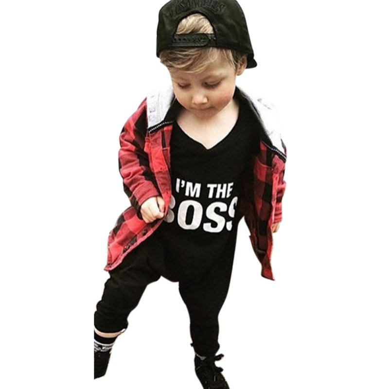2018 Autumn Casual Cute Baby Kids Boys Girls Long Sleeve Letters Printed Romper Jumpsuit ...