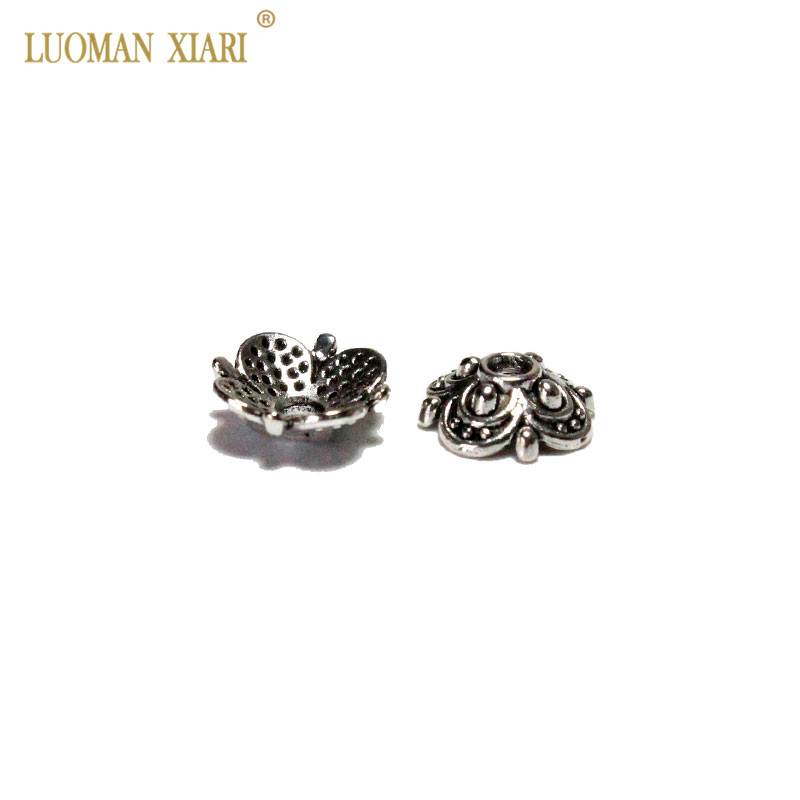 Wholesale Plum Blossom Silvery Flower Bead Caps Jewelry Findings DIY Bracelet Necklace Accessories For Jewelry Making 8/10 Mm