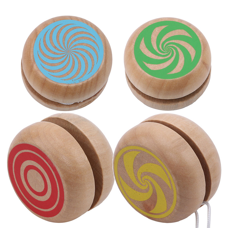 Baby Classic Toys Wooden Yoyo Toys For Children Intelligence Learning Education Toy Hand-Eye Coordination Development Yoyo Toy