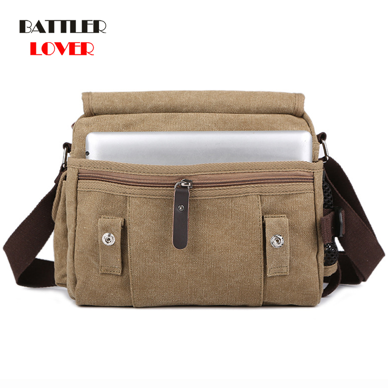 High Quality New Solid Canvas Briefcases Satchel Bags Buckle Casual Portable Working Bag Korean Trend Simple Pack For Men Women