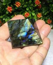 50mm Natural labradorite Quartz Crystal Pyramid point Healing