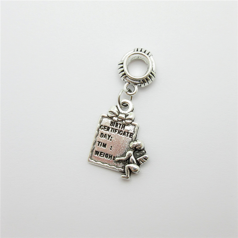 Ancient silver 20pcs Angel Brand charms big hole loose bead fit Pandora bracelet pendants DIY