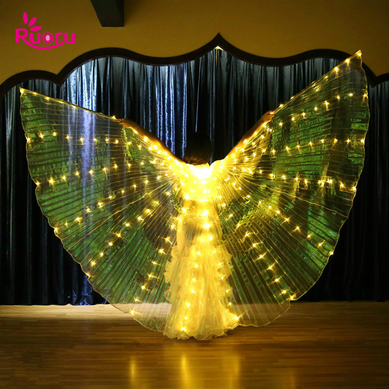 Ruoru Bag Led Wings Stage-Performance-Props Belly-Dance with Adjustable Stick And Shining