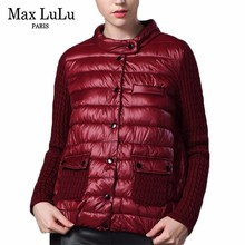 Max LuLu Korean Patchwork Knitted Clothing Womens Winter Jackets Thicken Slim Casaco Woman Short Parkas Fashion Girls Coat 7XL