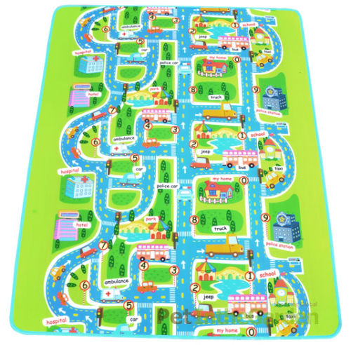 kids car road track children play mat pad rug lego big 2m x 1 6m carry bag in play mats from. Black Bedroom Furniture Sets. Home Design Ideas