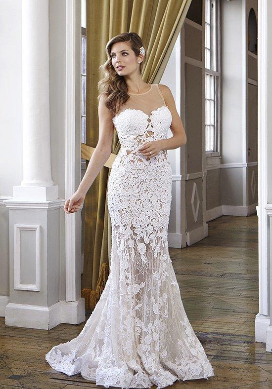 Custom Made Designer Sheath Wedding Dress Silhouette Sweetheart