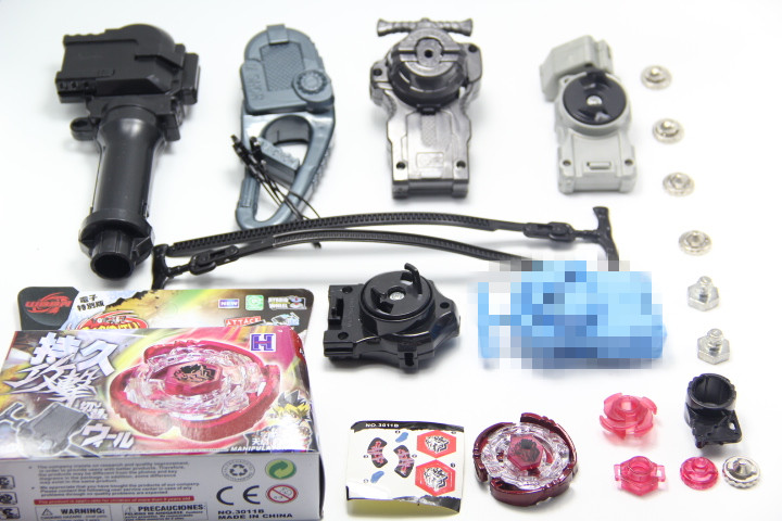 DS Cyber Pegasus (Pegasis) 4D Metal Fight Beyblade (Astro Spegasis) + 4pcs Different Launcher + 1 Hand + 1 Hook + 6 Meta Tip