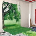 Art fabric photography backdrops photo studio photographic background for children hot sale green grass backdrop  D-662