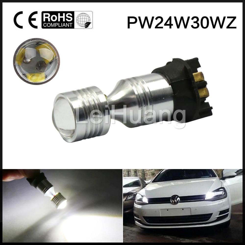 Xenon White Error Free PW24W LED Bulbs For BMW F30 3 Series DRL Daytime Lights