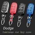 Кожа Автомобилей Брелок Брелок Крышки Случая бумажника для Dodge Avenger Challenger Зарядное Durango Journey Grand Caravan сумка Держатель Для Ключей