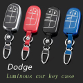Leather Car Keychain Key Fob Case Cover wallet for Dodge Avenger Challenger Charger Durango Journey Grand Caravan Key Holder bag