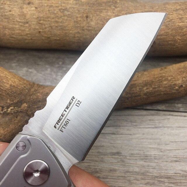 FREETIGER FT601 Mechanical Warrior Folding Pocket Knife D2 Blade CNC Steel Ball Bearing Hunting Camping Small EDC Pocket Knife 3
