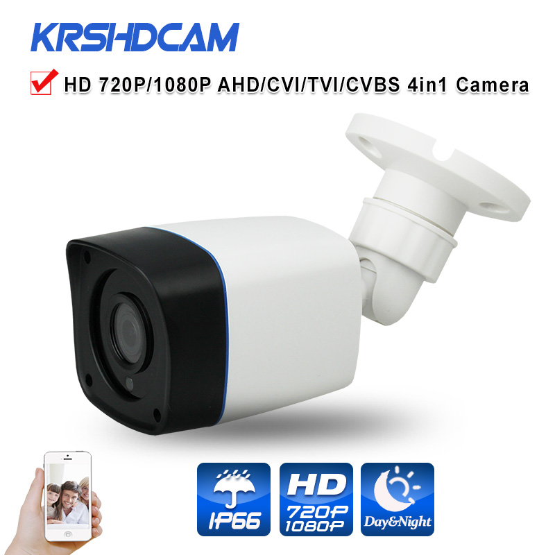 CCTV Security 720P AHD Camera 4 in 1 bullet Camera 1080P option OV sensor Waterproof IP66Outdoor Video Surveillance Night Vision bullet camera tube camera headset holder with varied size in diameter