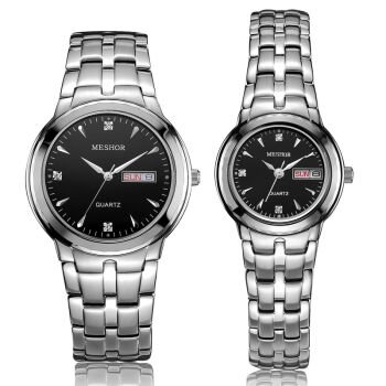 (MESHOR) fashion leisure steel watch with a quartz couples MS.5001M.16.217 / MS.5001L.16.217