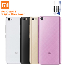 Xiao Mi Xiaomi Original Glass Battery Rear Case For Mi5 MI 5 M5 Back Cover Phone Backshell + Tool