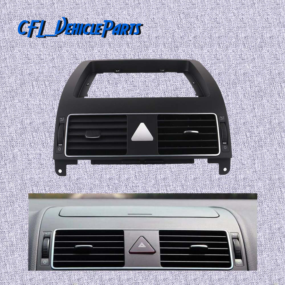 Chrome Centre Console Dashboard Heater Air Vent 1TD819728C For VolksWagen Touran 2004 2005 2006 2007 2008