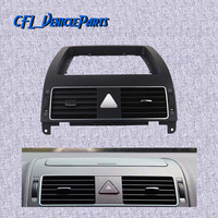 Chrome Centre Console Dashboard Heater Air Vent 1TD819728C For VolksWagen Touran 2004 2005 2006 2007 2008 2009 2010 2011 2015